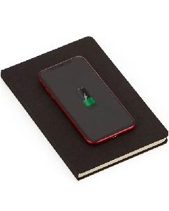 Brindes Personalizados -  Caderno com Carregador Power Bank Personalizado