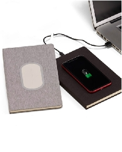 Caderno com Carregador Power Bank Personalizado