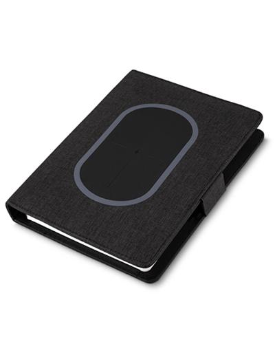 Brindes Personalizados -  Caderno Personalizado com Powerbank
