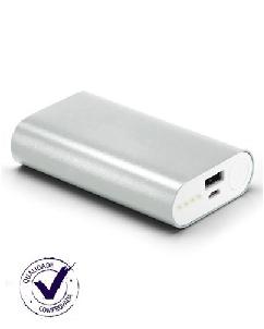 Carregador Portátil em Alumínio com 02 Baterias