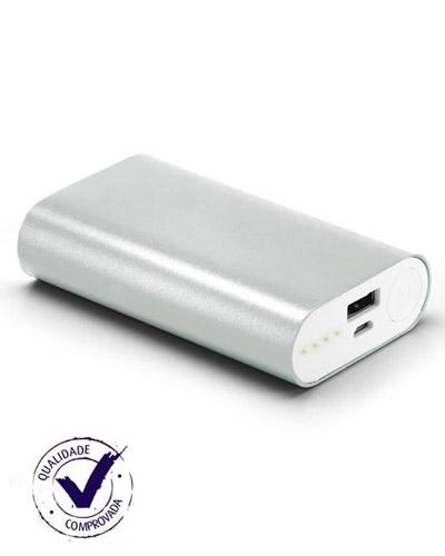 Brindes Personalizados -  Carregador Portatil em Aluminio com 02 Baterias