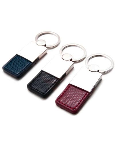 Brindes Personalizados -  Chaveiro em Metal e Couro Personalizado