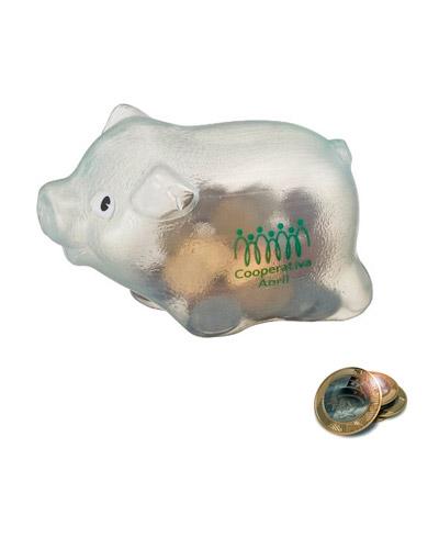 Brindes Personalizados -  Cofre Porquinho Plástico Personalizado