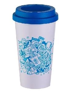 Copo de Café Azul Personalizado