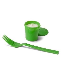 Copo para Salada Personalizado com Garfo e Molheira