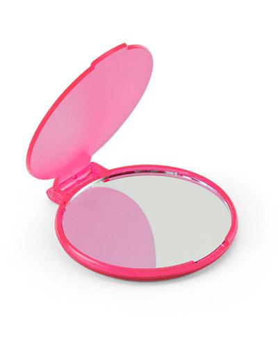 Espelho de Maquiagem Rosa Personalizado