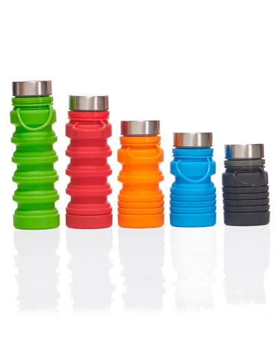 Brindes Personalizados -  Garrafa de Silicone Dobrável Personalizada