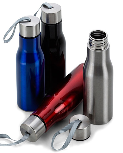 Brindes Personalizados -  Garrafa Squeeze de Metal Personalizada