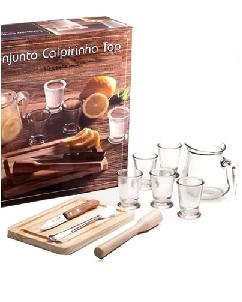 Brindes Personalizados -  Kit Caipirinha Personalizado 10 peças