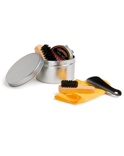 Brindes Personalizados -  Kit caixa de Engraxar e Polimento de Sapato Personalizado