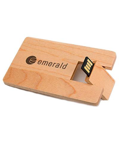 Brindes Personalizados -  Pen Card 4gb em Madeira Personalizado