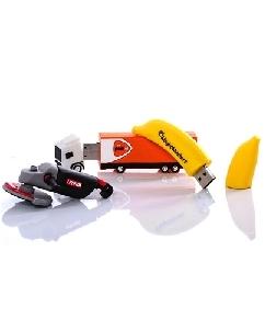 Brindes Personalizados -  Pen drive 4GB Emborrachado 3D