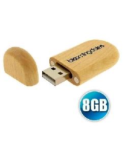 Brindes Personalizados -  Pen drive 8 gb Ecológico com Tampa