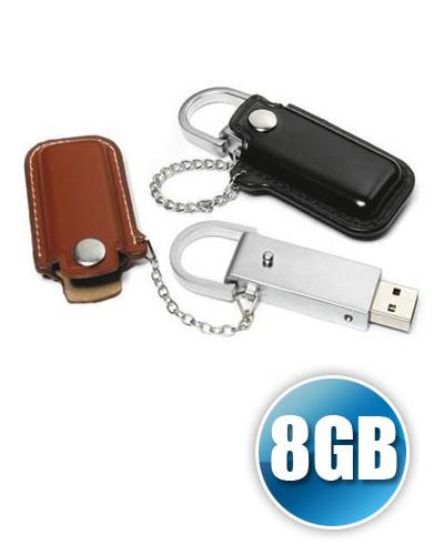 Brindes Personalizados -  Pen drive 8 gb em Couro para Brinde Personalizado