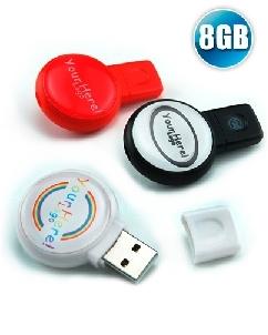 Pen drive 8GB Redondo para Brindes