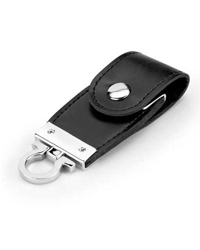 Brindes Personalizados -  Pen drive Chaveiro em Couro Personalizado