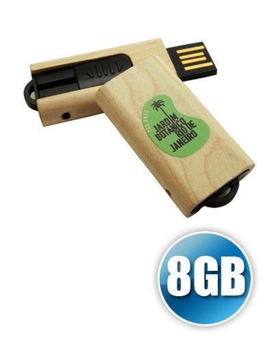 Pen drive de Madeira 8GB Personalizado