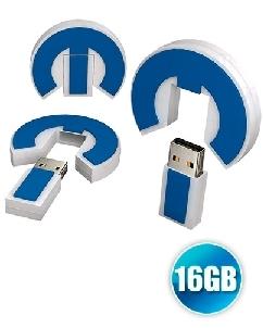Brindes Personalizados -  Pen drive emborrachado 16GB