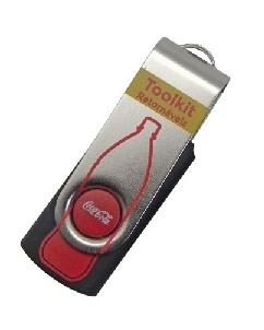 Brindes Personalizados -  Pen drive Giratório Personalizado Promocional