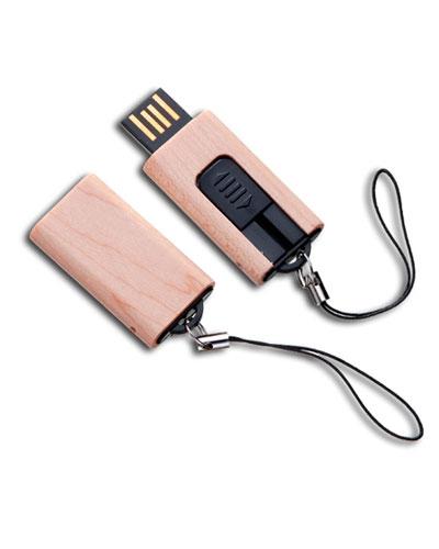 Brindes Personalizados -  Pen drive retrátil 4 gb Ecológico