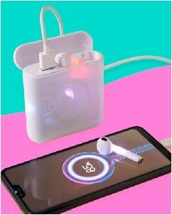 Power Bank Wireless com Fone de Ouvido Personalizado