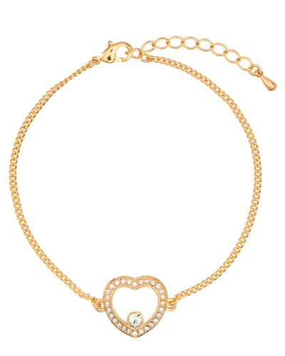 Brindes Personalizados -  Pulseira Swarovski Heart