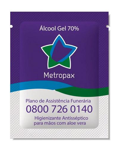 Brindes Personalizados -  Sachê de Álcool em gel Personalizado