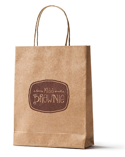 Brindes Personalizados -  Sacolinha Kraft Personalizada