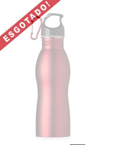 Brindes Personalizados -  Squeeze de Metal Promocional com mosquetão