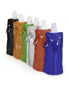Brindes Personalizados -  Squeeze de Plástico Dobrável Promocional