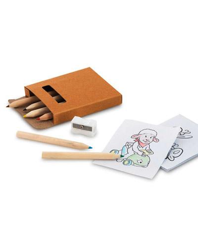 Brindes Personalizados -  Kit Lapis de Cor para Colorir Personalizado