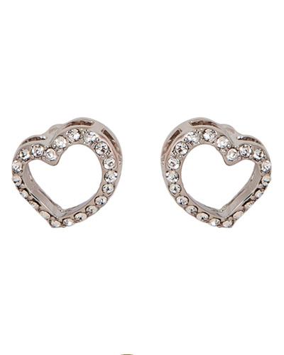 Brindes Personalizados -  Brincos Swarovski Symbolic Heart