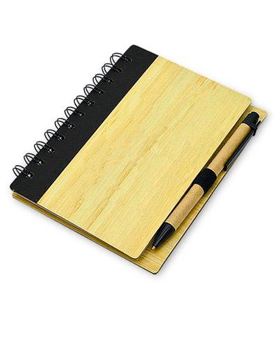 Brindes Personalizados -  Bloco Promocional com capa de Bambu