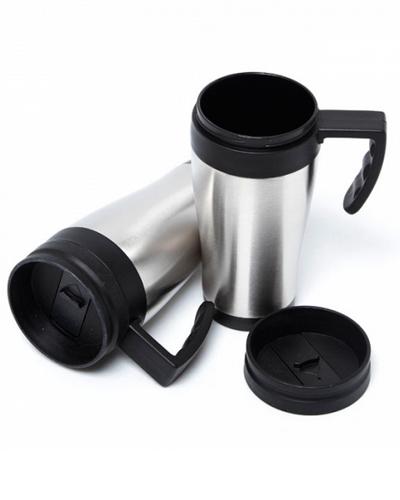 Brindes Personalizados -  Caneca Térmica de Alumínio Personalizada