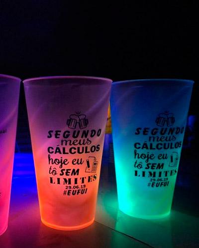Brindes Personalizados -  Copo Neon Personalizado