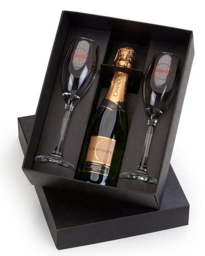 Brindes Personalizados -  Kit Mini Champagne com Taças