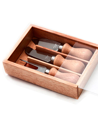 Brindes Personalizados -  Kit Queijo em Madeira Personalizado