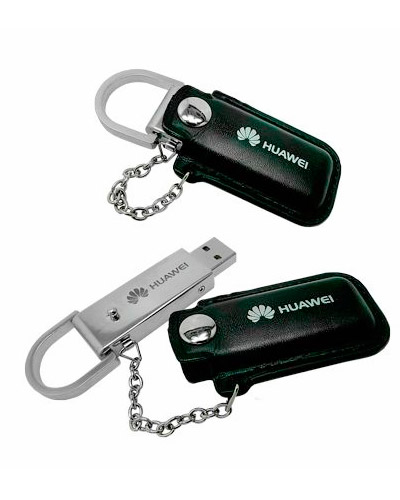 Brindes Personalizados -  Pen drive de Couro Personalizado