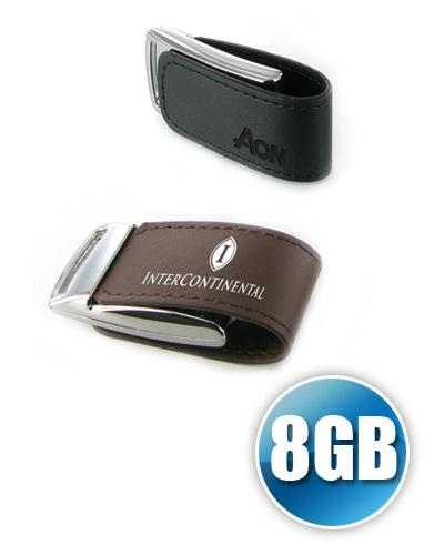 Brindes Personalizados -  Pen drive 8 gb em Couro com Imã Personalizado
