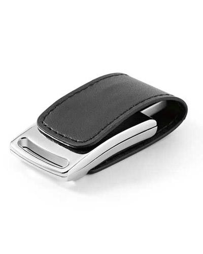 Brindes Personalizados -  Pen drive em Couro com Imã Personalizado