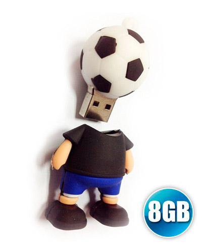 Brindes Personalizados -  Pen drive 3D 8GB Customizado em Borracha