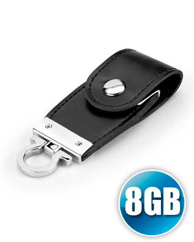 Brindes Personalizados -  Pen drive Chaveiro 8 gb em Couro