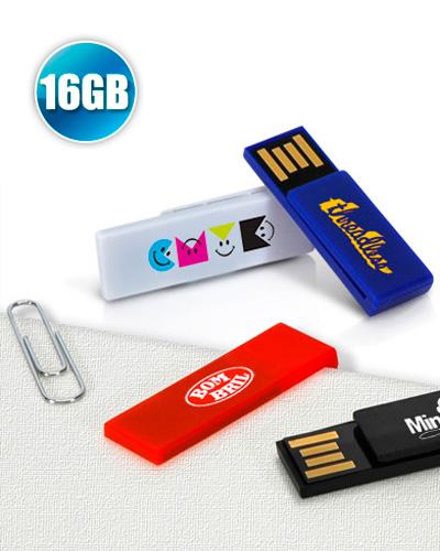 Brindes Personalizados -  Pen drive 16GB Clip para Brindes