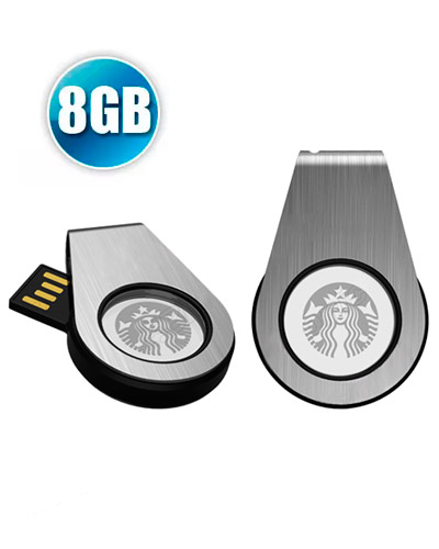 Brindes Personalizados -  Pen Drive 8GB Personalizado Giratório