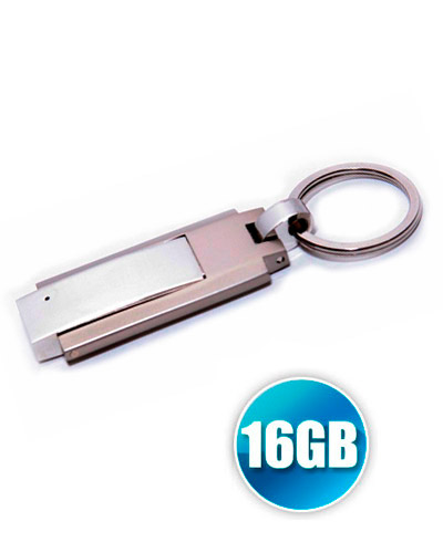 Brindes Personalizados -  Pen drive 16GB modelo Chaveiro Personalizado