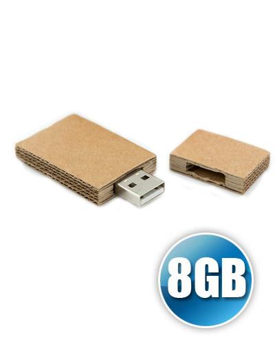 Brindes Personalizados -  Pen drive 8GB Papel Reciclado Personalizado