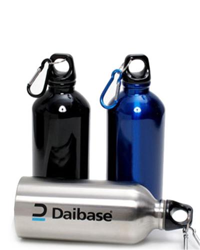 Brindes Personalizados -  Squeeze de Alumínio Promocional com Mosquetão